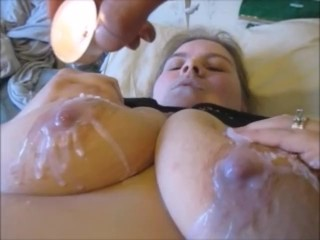 Extreme Wax Torturing; Hot Wax on Pussy, Nipples,& Butt With Insane Orgasm
