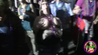 Mardi Gras Flashing  mardi gras new orleans college outside flashing ebony black public chubby kink butt petite bourbon street big boobs carnival nola