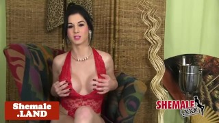 Cuban tgirl beauty solo teasing and stripping