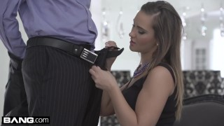 BANG Glamkore - Glam socialite Naomi Bennet gets a mouthful of cum Pawg moaning
