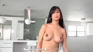 CastingCouch X Busty asian Jade Kush fuck by casting agent Big celebrity