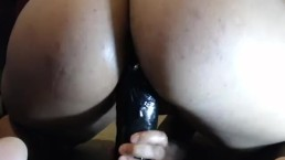 Tight Pussy Vs. Huge Dildo