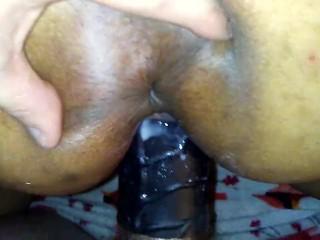Prelude to orgasm 1 (Black Sheath) Creaming on The Sheath