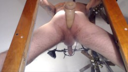 playing w my XLdildo over glass table w camera under lookin up no audio sry