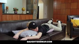 DaughterSwap - Barista Babes Fuck Their Dads For Some Cash