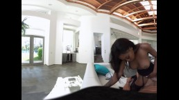 GUYS BIG TIT EBONY GF RIDES HIS COCK IN HOT VR