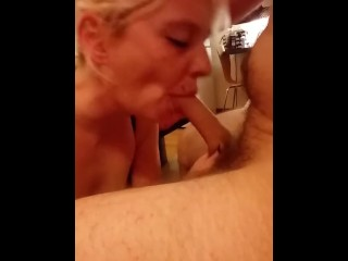 Amateur gf teases by sucking