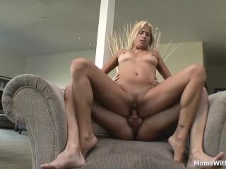 Horny Mom Pussy Pierced Blows And Fucks Cock