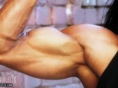 Female Bodybuilder Huge Bicep Flex