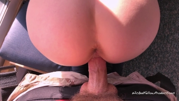 Fucking Bunny's tight pussy in the sunroom where all the neighbors can see
