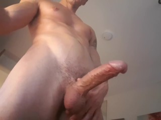 Cute English Guy Plays with 8inch Cock