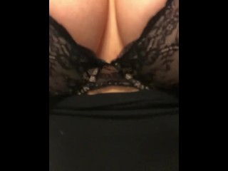 Slow Motion Boob Bouncing / Return of the Black Lace Bra