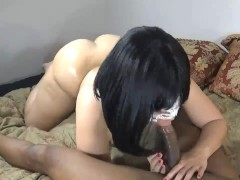 Wife fucks neighbor while husband's OT! Get's pounded HARD & DEEP THROATS!!