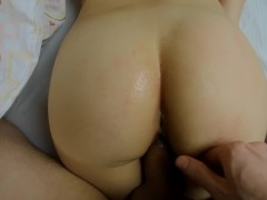 Sleeping Teen Wakes Up To Anal Fingering And Fuked Lying Doggystyle