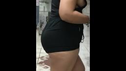 Side boob nipple flash in public