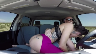 Epic Road Head 3some, Sucking and Fucking in a Truck! SINS SEX TOUR! Blowjob amateurs