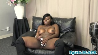 Teasing after dick busty black tgirl tugging blackt tgirl
