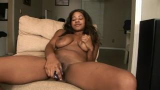 Big Ole Booty Ebony Slut Masturbates With Dildo