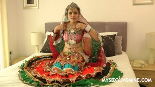 Indian College Girls Jasmine Mathur In Gujarati Garba Dance Stripping Naked