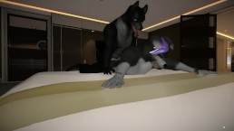 Cute slave getting humped by his master. Animated by: Marolito
