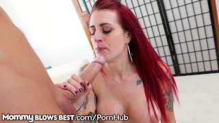 Milf unloads cock boyfriend's lea up daughter's her tana inked titty mommyblowsbest