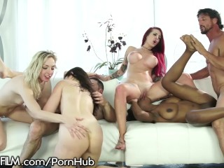 Mom son group sex