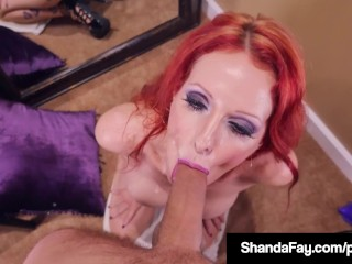 Lucky Dick Sucked By Shanda Fay who twirls Cock & Gets Cum!