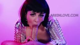 Larkin Love cum swallowing blowjob long tongue and deepthroat oral cumshot