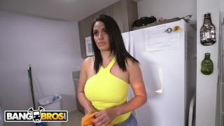 Preview 2 of BANGBROS - Slamming My Hot Cuban Maid Cristal Caraballo's Big Ass