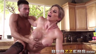 Brazzers - Naughty Milf Cory Chase gets fucked in the kitchen