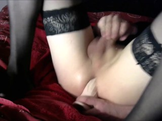 Sissy Rachel plays with her pussy