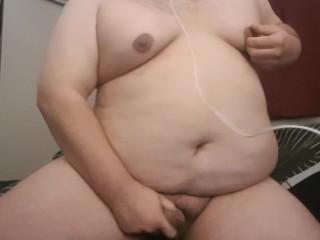 Horny moaning chub