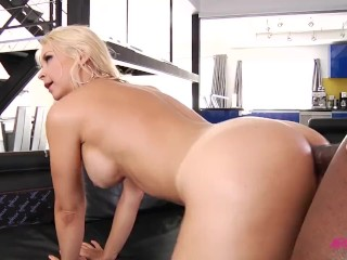 Sarah Vandella conquered by black dick