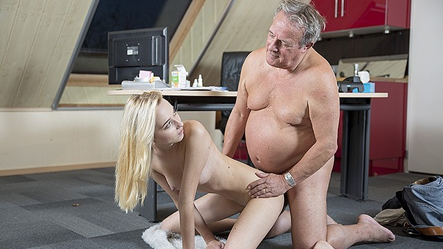 Blonde man porn - Young old porn martha gives grandpa a blowjob and has sex with his old dick