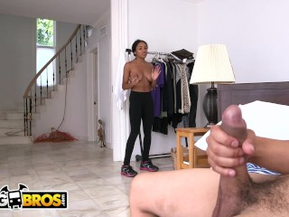 Preview 5 of BANGBROS - Hot Black Maid With Big Tits Anya Ivy Is A Tough Nut To Crack