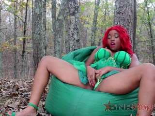 Getting off as Super Villian Poison Ivy/ Nina Rivera