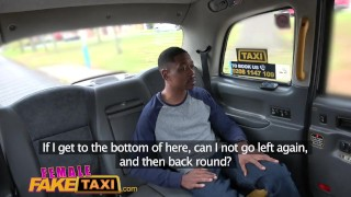 Preview 4 of Female Fake Taxi Back seat blowjob from busty blonde driver for lucky stud