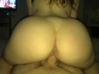 POV GF bouncing on dick