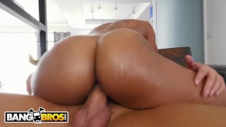 Ebony fucking him pornstar bangbros her makes by butler's day young black ass
