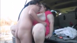 I Got Fucked After Dinner In Back Of SUV In Public Pussy Creampie
