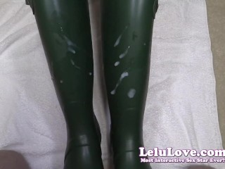 Lelu Love-Wellies Masturbation Cumshot On Boots