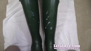 Lelu Love Wellies Masturbation Cumshot On Boots
