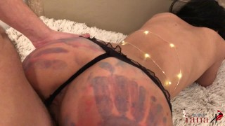 Got My Ass Painted and Fucked from behind BEST CREAMPIE Cumshot hclip
