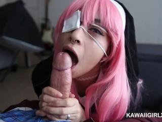 Adorable Hentai Nun Loves To Tease And Worship Cock