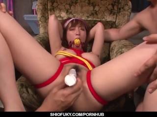Sana Anzyu endures heavy fucking in bondage scenes - More at Pissjp.com
