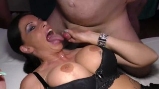 busty Milf anal gangbang orgy porno