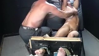 Feet play, massage and tickleing with Collins and Franco Gay masturbating