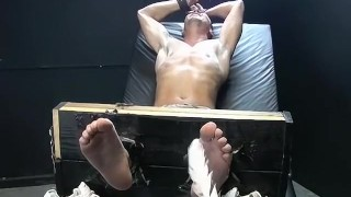 Feet play, massage and tickleing with Collins and Franco European dick