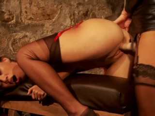 Ania Kinsky trains Tiffany - The Education of Tiffany