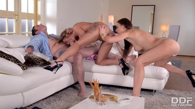Mens hair shaved designs - Swinger couple rock a threesome with designer tina kay
